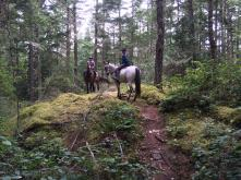 Equestrians Jennell and Ruthie enjoying a ride on The Hill. Photo courtesy Jennell Kvistad.