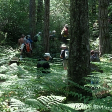 Hikers on the Spring Ramble, 2014. Photo by Tim Clark.