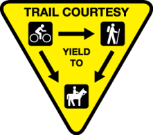 Trail courtesy sign