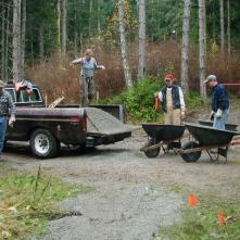 Building the main trailhead, November 2005